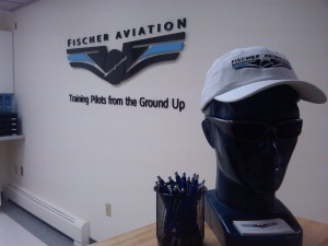 Fischer Aviation Front Counter Sign